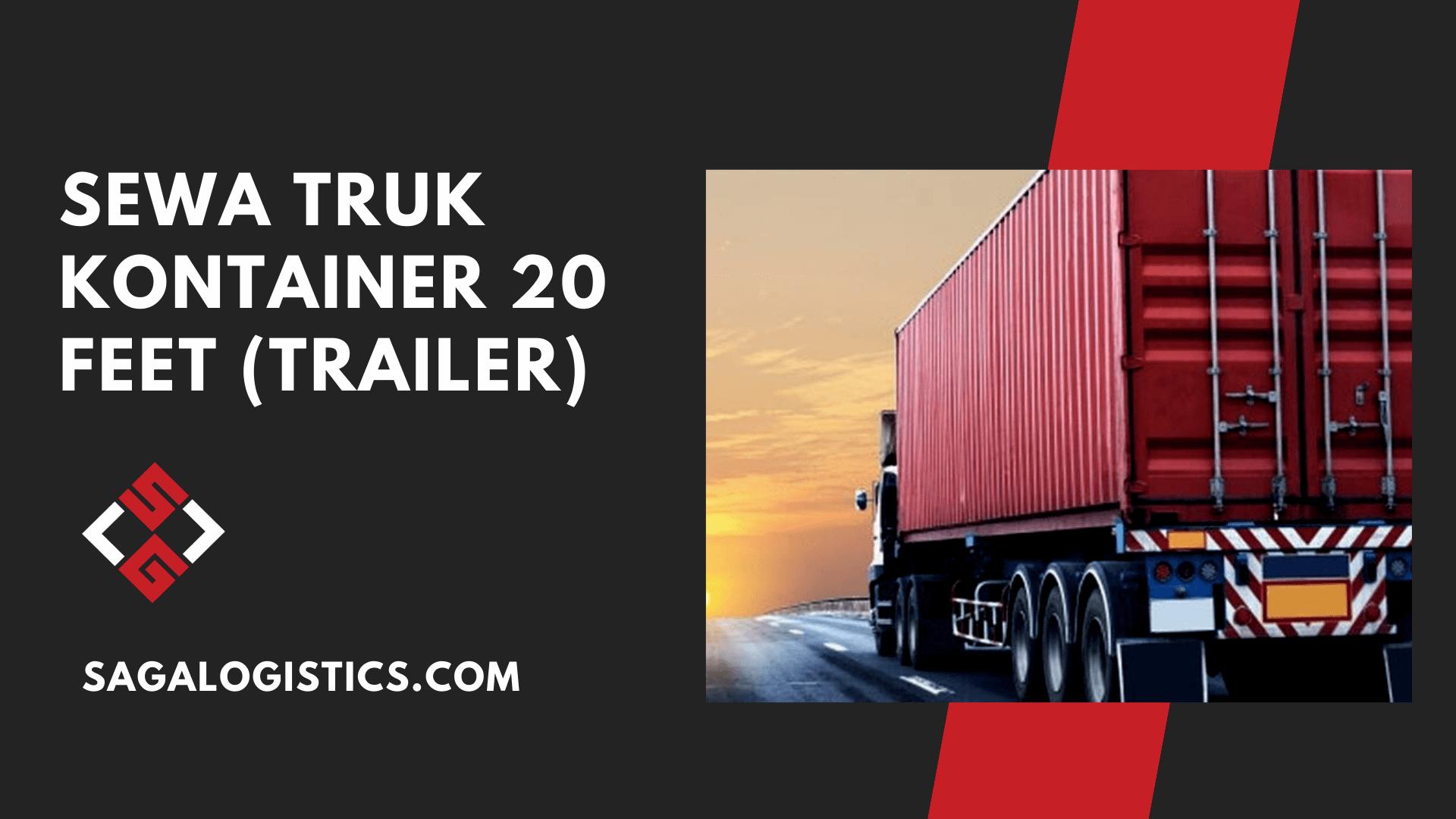 sewa truk kontainer 20 feet