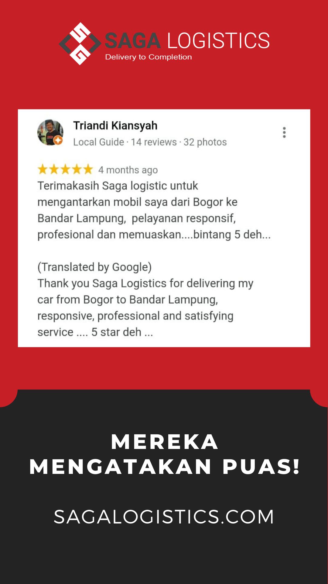 review jasa kirim mobil sagalogistics