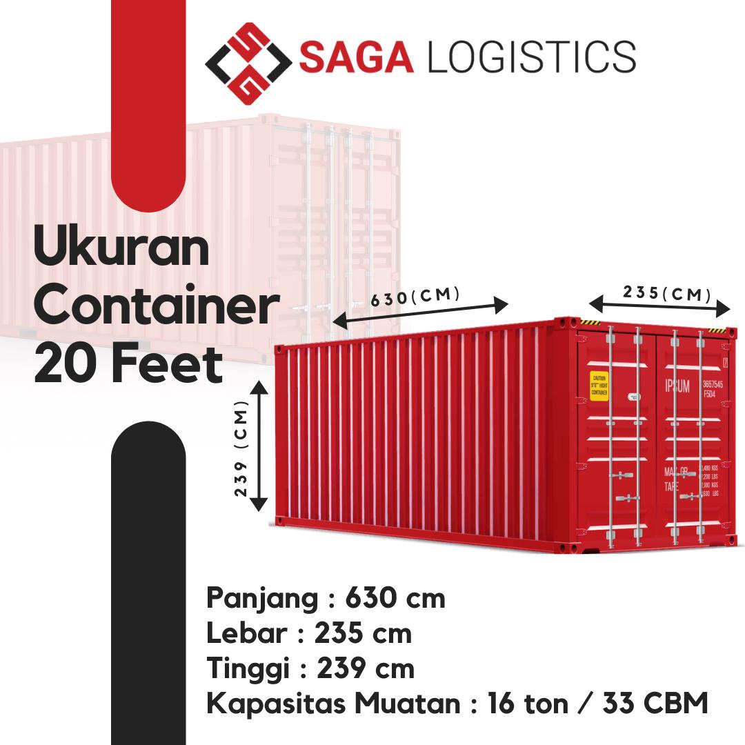 ukuran muatan container 20 feet