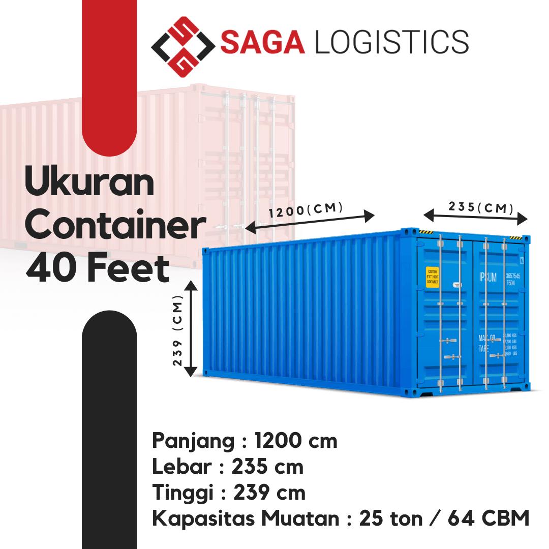 ukuran muatan container 40 feet